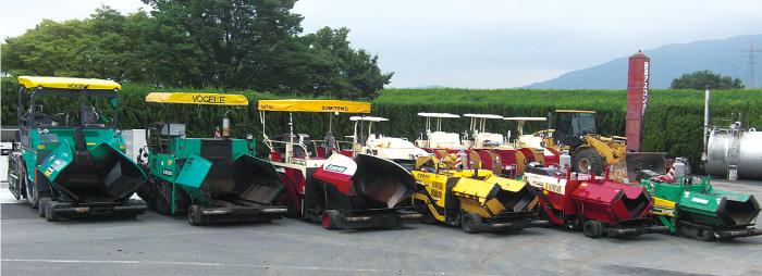 豊富な舗装機械を保有し、様々なニーズに対応可能!